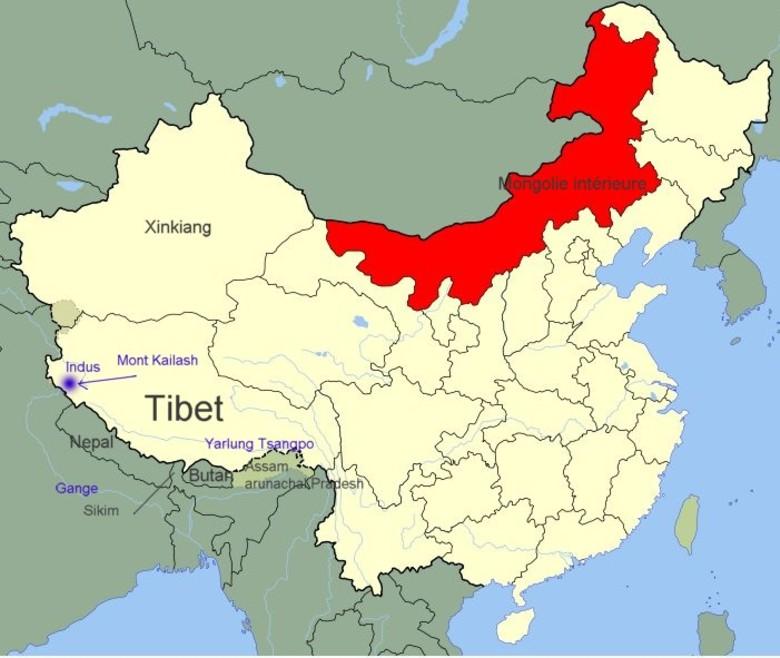 Carte Chine Avec Tibet.Tibet Et Chine